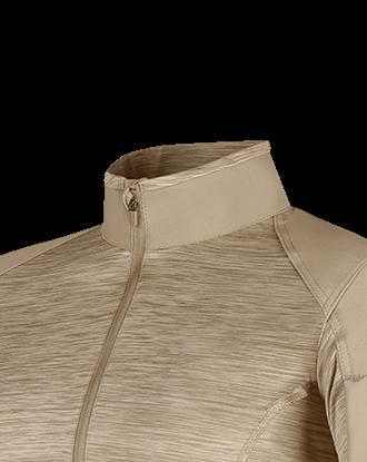 Gola forrada para evitar o atrito e ajustada ao pescoço