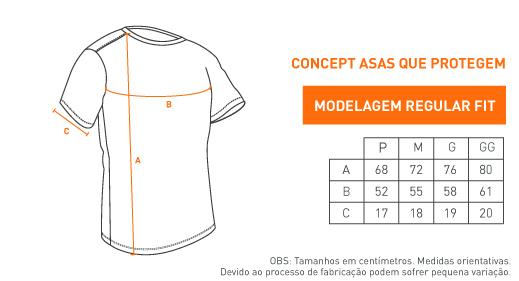 Camiseta Concept Asas Que Protegem