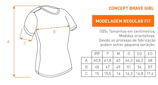 Camiseta Feminina Concept Brave Girl