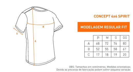 Camiseta Concept 4x4 Spirit - Preta