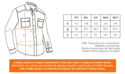 Camisa de Sarja Endurance - Cinza